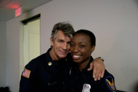 Eric Roberts and Bianca Jones in BURNED, Los Angeles, CA